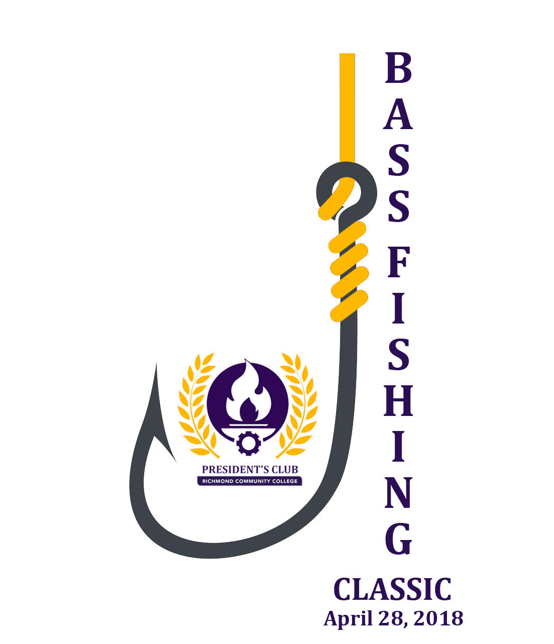 Bass Fishing Classic - April 28, 2018 - Fishing hook with President's Club Logo