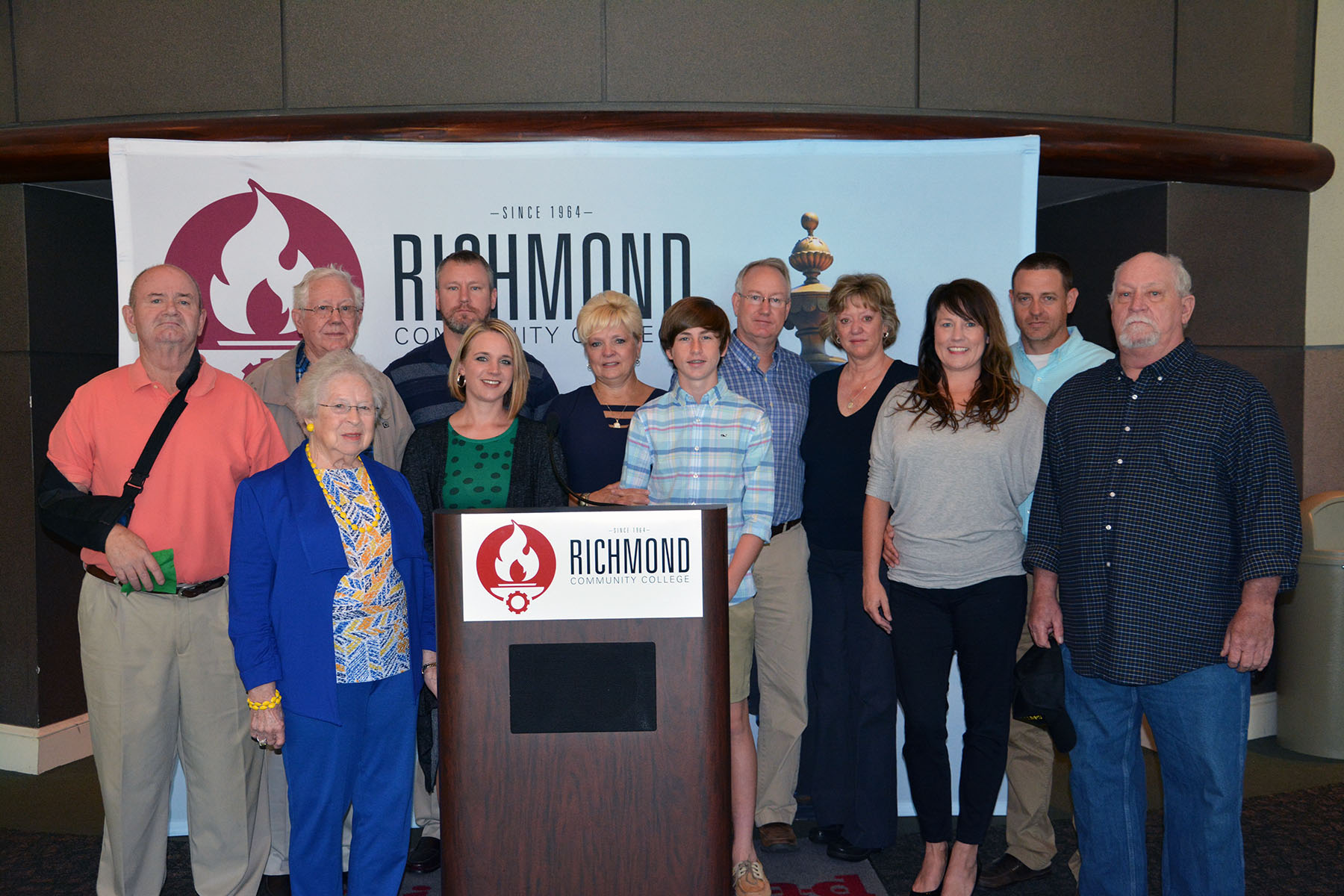 Pictured are members of the Joshua Michael Lamm family who established a scholarship in Josh's memory at Richmond Community College.