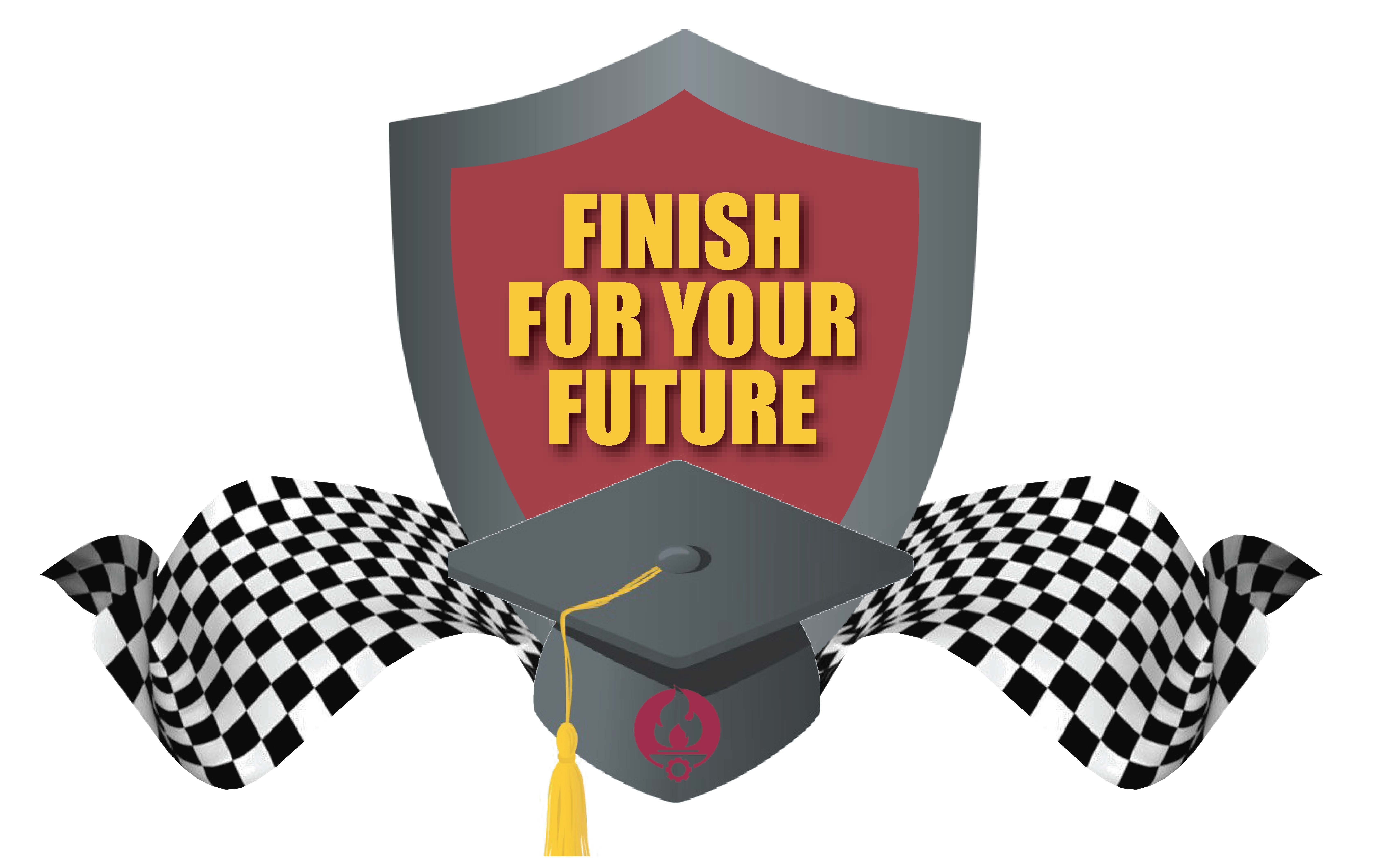 Logo for the Finish for Your Future campaign