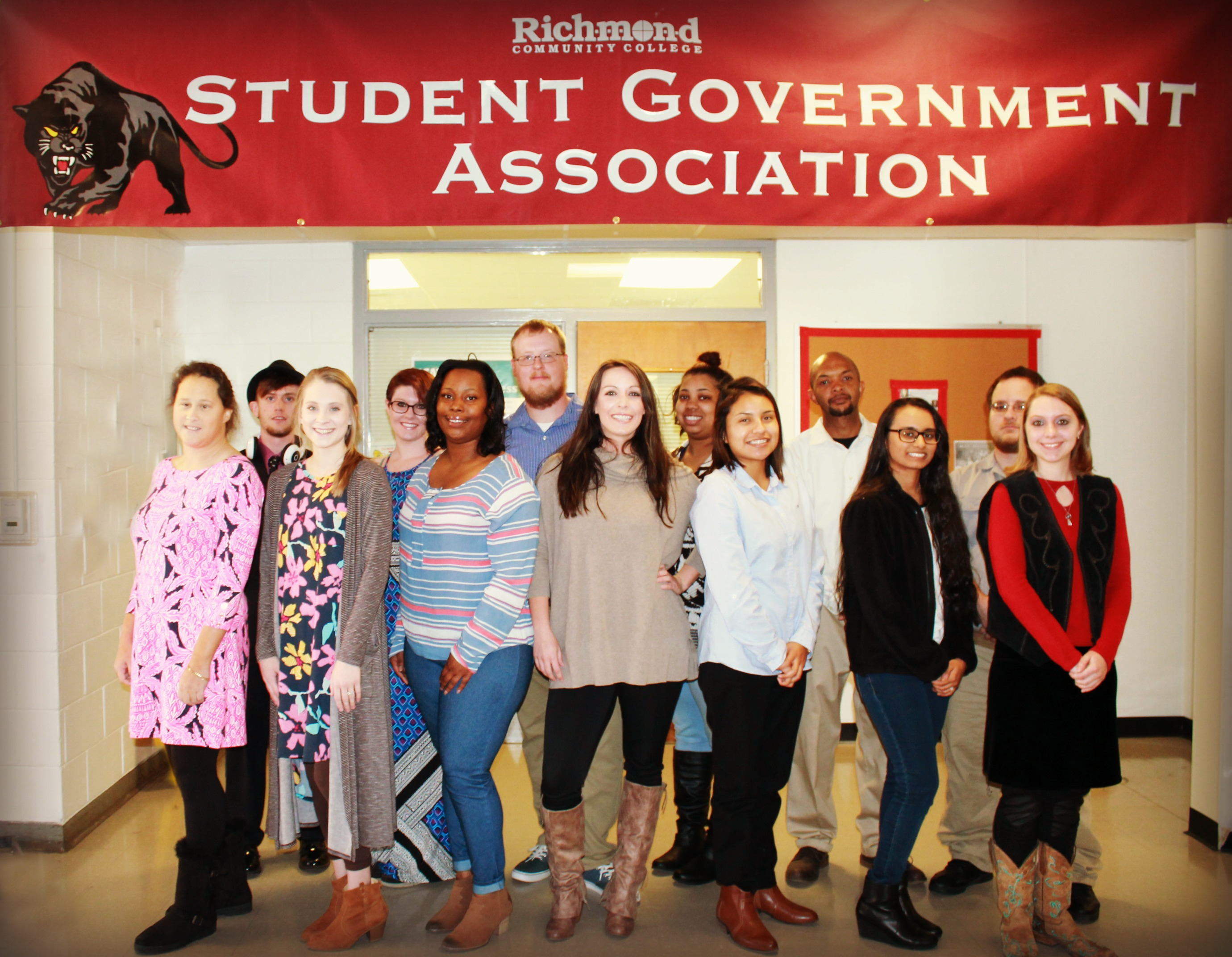 Pictured are members of the Student Government Association 2016-17
