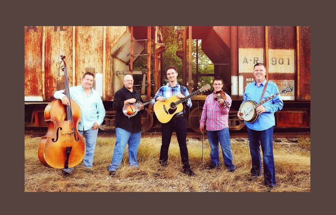 Members of the Bluegrass group Sideline pose for a photop