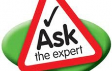 """Icon that says """"Ask the expert"""""""