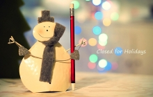 snowman with pencil