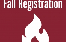 Fall Registration with Flame Icon