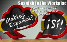 Spanish words on a couple of chalkboards