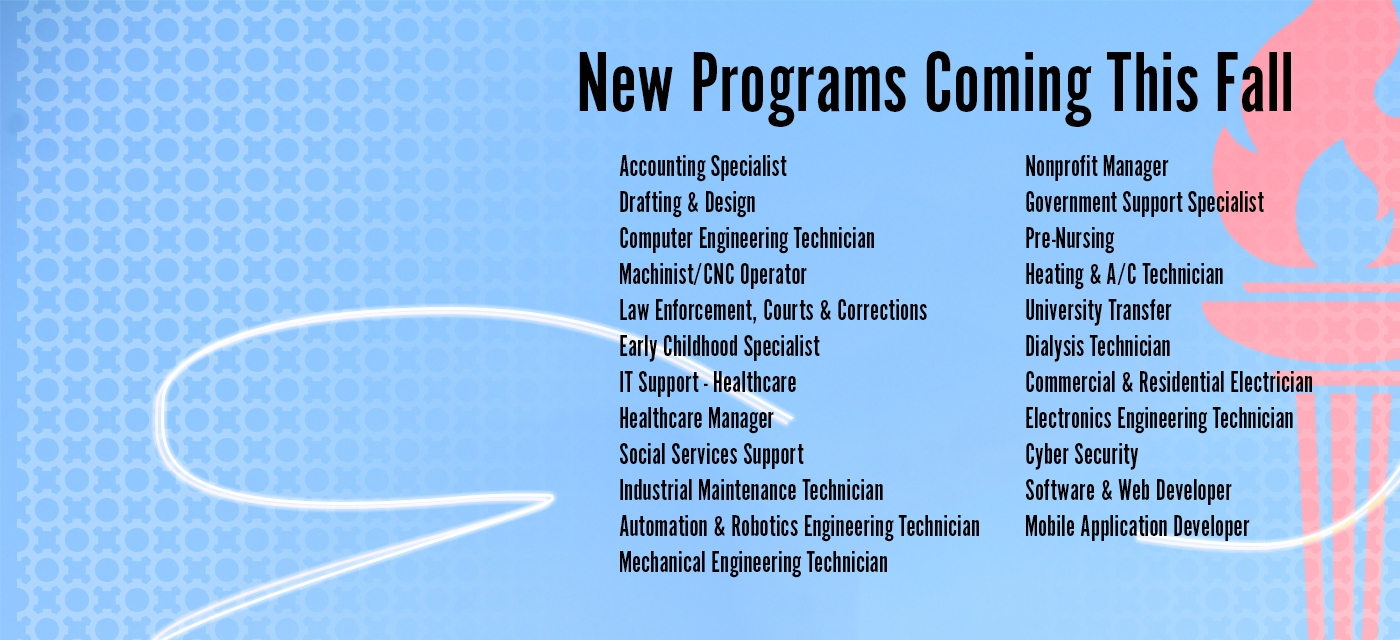 New Programs Coming This Fall Semester